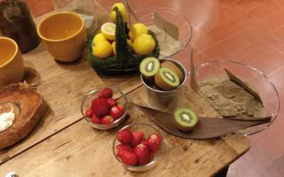 Trattamento antistress per cute e capelli a base di frutta